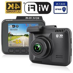 """Dash Cam :: Rove R2-4K UltraHD 2160P + 2.4"""" LCD 150° Wide A"""