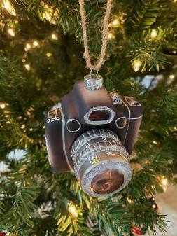 Pottery Barn Retro Camera Ornament - NWOT