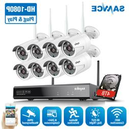 SANNCE Wireless 1080P Security Camera System WIFI 8CH NVR Ou