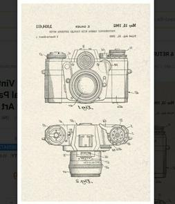 Sauer Vintage Camera 1962 Official Patent Diagram Poster Art