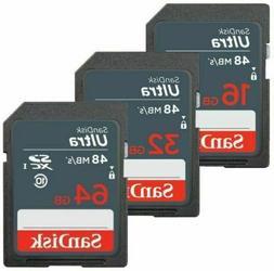 Sandisk SD Card 16GB 32GB 64GB 128GB ULTRA SDHC Camera Flash