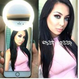 Selfie LED Light Ring Flash Fill Clip Camera For Phone & Tab