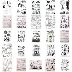 Silicone Clear Stamps Rubber Stamp Embossing Stencil Scrapbo