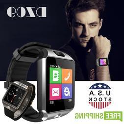 Silver DZ09 Bluetooth Smart Watch Phone + Camera SIM Card Fo