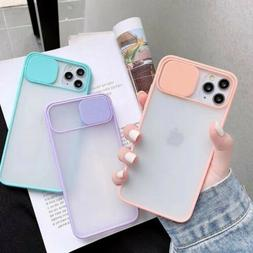 Slide Camera Lens Protector Matte Clear Soft Phone Case Cove