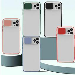 Slide Camera Lens Protector Soft Case Cover For iPhone 11 Pr