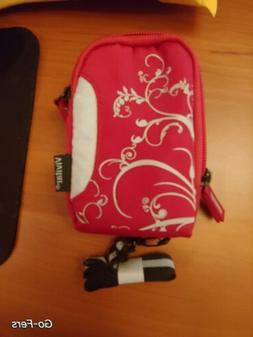 Vivitar Small Camera Case, Red And Grey