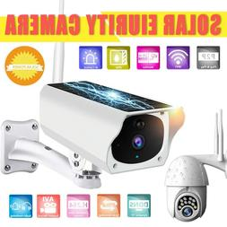 Solar Powered Camera 1080P Wireless WiFi PIR Waterproof Secu