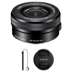 Sony SELP1650 16-50mm Power Zoom Lens and Accessory Bundle