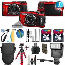 Olympus Stylus TOUGH TG-6  Camera + Extra Battery + Flash &