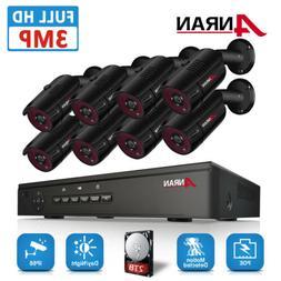 ANRAN Surveillance 1080P POE Camera 8CH 2.0MP NVR Security K