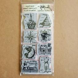 Tim Holtz Stampers Anonymous Blueprints 1 Cling Rubber Stamp