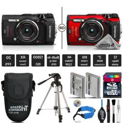 Olympus Tough TG-5 Digital Camera Black Or Red + Extended Wa