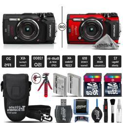 Olympus Tough TG-5 Digital Camera Black Or Red + Extra Batte
