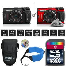 Olympus Tough TG-5 Digital Camera - Black Or Red + Floating