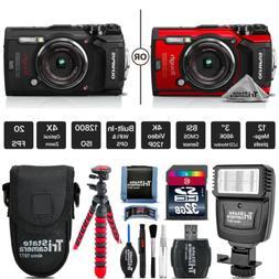 Olympus Tough TG-5 Digital Camera - Black Or Red + Slave Fla