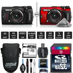 Olympus Tough TG-5 Digital Camera - Black Or Red + Case + 32