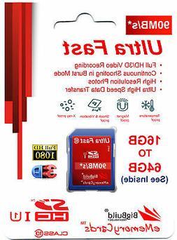 Ultra Fast Memory Card for Pentax K 1, 1 D, 1 II Camera 90MB