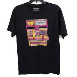 Polaroid Unisex Graphic T-Shirt Black Pink Yellow Camera One