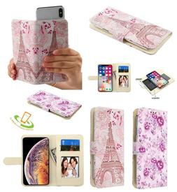 Universal Cell Phone Cover Bling Diamonds Leather Flip Walle