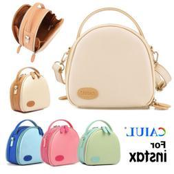 PU Leather Camera Bag Case Zippered For Fujifilm instax mini