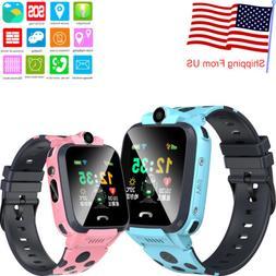 Unlocked Kids Smart Watch Phone SOS Call GPS+LBS Locator Tra