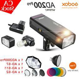 US Godox AD200Pro 2.4G Wireless TTL HSS Li-ion Pocket Flash