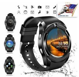 US V8 Bluetooth Smart Watch SIM Slot Camera Phone Mate For i