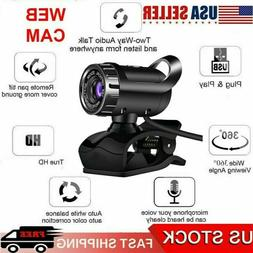 USB 2.0HD Webcam with Microphone Web Camera Cam For Mac/Tabl
