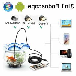 USB-C Type C & Micro Endoscope 7mm Inspection HD Camera For