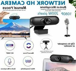 USB HD 1080P Webcam Manual Focus Web Camera For MAC PC Deskt