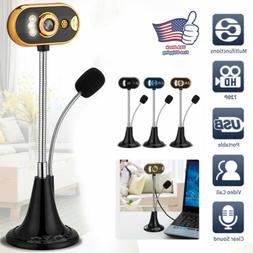 USB HD Web Cam Camera Webcam with Microphone For Desktop Com