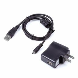 USB SYNC DATA CHARGER CAMERA CABLE + WALL ADAPTER FOR FUJIFI