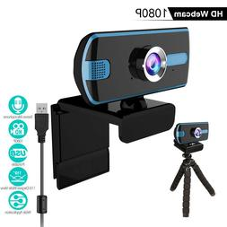 USB Web Camera 1080P 360° Webcam with Microphone,computer f