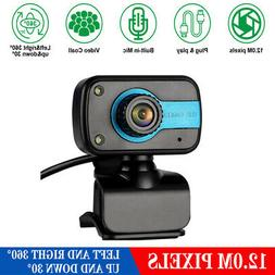 USB Webcam Web Camera HD AutoFocus Cam Video Recording W/Mic