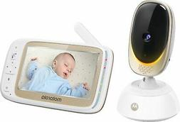 "Motorola - Video Baby Monitor with Wi-Fi camera and 5"" Scree"
