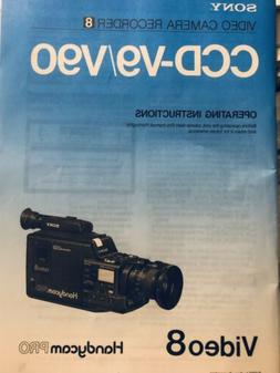 Sony Video Camera Recorder Instruction Handycam PRO Video8 B