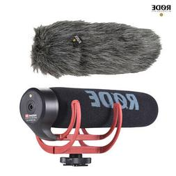 RODE VideoMic GO On-Camera Shotgun Microphone + Fur Wind Shi