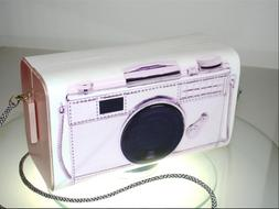 Vintage Looking Pink Camera Clutch Purse is Hand Crafted in