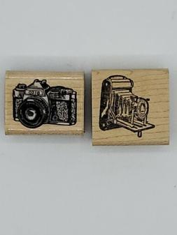 Vintage Rubber Stamps Set Of 2 Small Cameras Inkadinkado, St