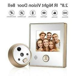 Visual Doorbell Camera IR Night Vision Motion detection Peep