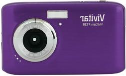 Vivitar ViviCam F128 14.1MP 4X Zoom Digital Camera - Purple