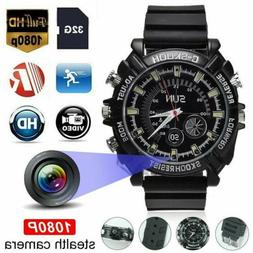 Waterproof Hidden Spy Camera Security Wrist Watch 1080P HD D