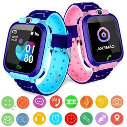 Waterproof Kids Smart Watch Anti-lost Safe LBS Tracker SOS C