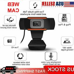 720P HD Webcam Microphone Gaming Conferencing USB Camera for