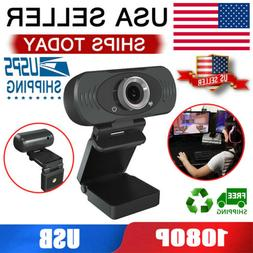 Webcam For PC Desktop & Laptop Web 1080P Full HD USB Camera