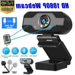 Webcam HD1080P USB With Microphone Laptop Camera PC Game Cam