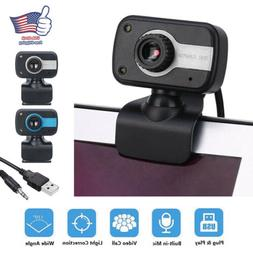 Webcam USB Computer Web Camera For PC Laptop Desktop Video C