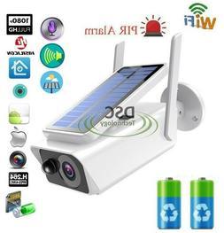 Wifi 1080P Solar/Batteries Power IP Camera CCTV Security Nig