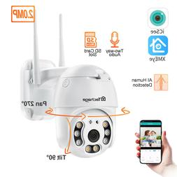 WiFi PTZ 1080P HD Home Security Wireless Waterproof Outdoor